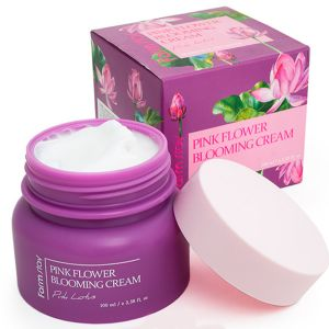 Крем для лица с экстрактом лотоса FarmStay Pink Flower Blooming Cream Pink Lotus 100 мл