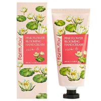 Крем для рук с экстрактом водяной лилии FarmStay Blooming Hand Cream Water Lily 100 мл