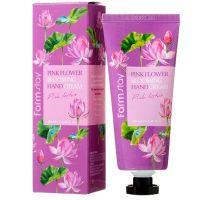Крем для рук с розовым лотосом FarmStay Pink Flower Blooming Hand Cream Pink Lotus 100 мл