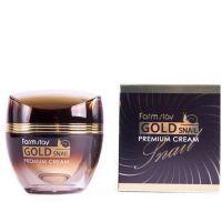 Премиальный крем для лица с золотом и муцином улитки FarmStay Gold Snail Premium Cream 50 мл