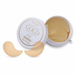Патчи для глаз и носогубных складок с мгновенным освежающим эффектом Petitfee Hydro Gel Eye Patch Premium Gold & EGF 60 шт