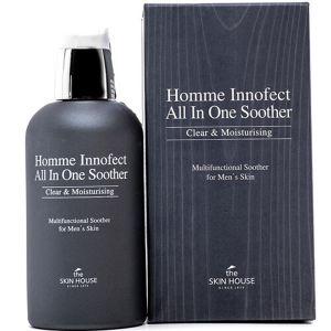 Увлажняющие средство 3 в 1 для мужчин The Skin House Homme innofect control all-in-one soother 130 мл