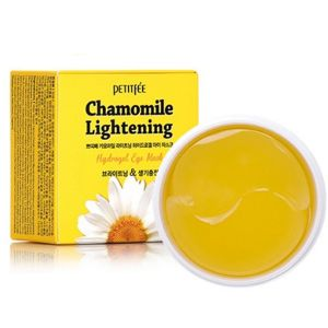 Осветляющие патчи для глаз с экстрактом ромашки Petitfee Chamomile Lightening Hydrogel Eye Patch 60 шт