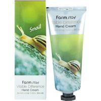 Крем для рук с экстрактом улитки FarmStay Visible Difference Snail Hand Cream 100 мл