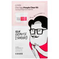 3х ступенчатый набор для очищения проблемной кожи COSRX One Step Pimple Clear Kit 1.2мл+5мл X 2 штуки+21мл