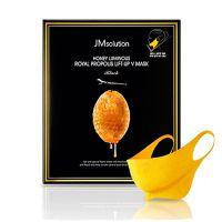 Питательная лифтинг-маска с экстрактом прополиса для шеи и подбородка JM Solution Honey Luminous Royal Propolis Lift-Up V Mask Black 25 г