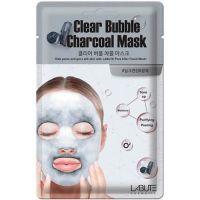 Очищающая кислородная маска с древесным углем Labute Clear Bubble Charcoal Mask, 20 мл
