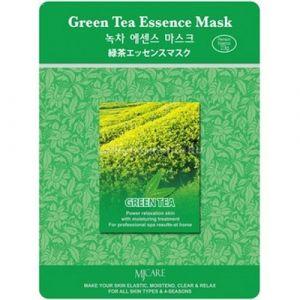 Маска тканевая для лица Mijin Essence Mask Green tea(зелный чай)