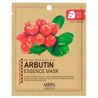 Осветляющая маска для лица с арбутином (тканевая) Mijin care Arbutin Essence Mask 25 г