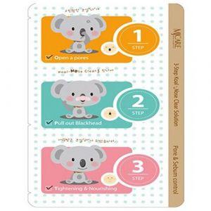 3-х ступенчатый набор для очистки пор и удаления черных точек Mijin care 3-Step Koala Nose Clear Solution, 7 г