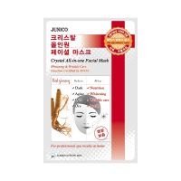 Маска тканевая c красным женьшенем Mijin Junico Crystal All-in-one Facial Mask Red ginseng 25 г