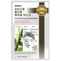Маска тканевая с улиточным муцином Mijin Junico Crystal All-in-one Facial Mask Snail 25 г