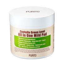 Увлажняющие пэды с центеллой для очищения Purito Centella All In One Mild Pad 70 шт