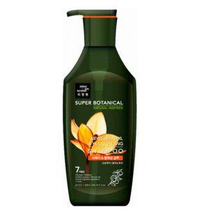 Шампунь для ломких, ослабленных и тусклых волос с Иланг-илангом Mise En Scene Super Botanical Abyssinian oil & ylang ylang shampoo 500 мл