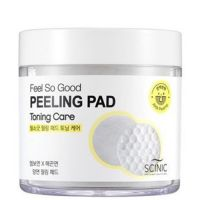 Очищающие пилинг-спонжи с АНА-кислотами для тонуса кожи Scinic Feel So Good Peeling Pad 70 шт