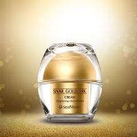 Улиточный крем для лица с 24к золотом SeaNtree Snail Gold 24K Cream 50 мл