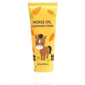 Пенка с лошадиным жиром для сухой, нуждающейся в восстановлении кожи SeaNtree Horse Oil 100 Cleansing Foam 120 мл