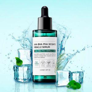 Сыворотка для проблемной и чувствительной кожи с AHA/BHA/PHA кислотами Some By Mi 30 Days Miracle Serum 50 мл