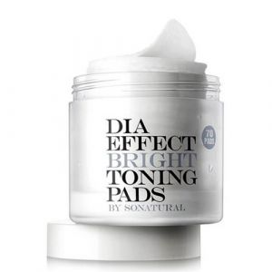Двусторонние пилинг-пэды для выравнивания тона кожи So Natural Dia Effect Bright Toning Pads 70 шт