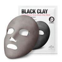 Маска корсет на основе угля и вулканического пепла So Natural Facial Design Deep Black Clay Mask 14 г
