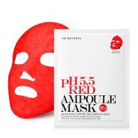 Успокаивающая маска для восстановления pH-баланса So Natural Red Ampoule Mask pH5.5 30 мл