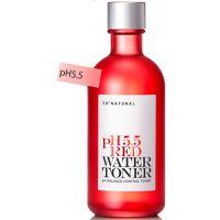 Слабокислотный восстанавливающий тонер с pH5.5, успокаивает, увлажняет So Natural Red Water Toner 130 мл