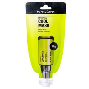 Маска охлаждающая очищающая Veraclara purifying black charcoal mask 27 г