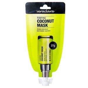 Маска кокосовая очищающая Veraclara purifying black charcoal mask 27 г