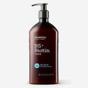 Бессульфатный укрепляющий шампунь с витамином B5 и биотином Aromatica 400 мл