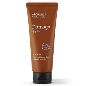 Бессиликоновая маска для поврежденных волос с маслом арганы Aromatica 180 мл