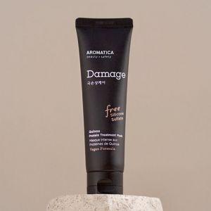 Бессульфатная протеиновая маска с киноа для сильно поврежденных волос Aromatica 160 мл