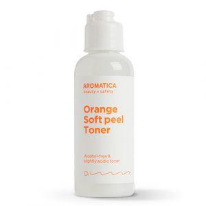 Travel-Size Отшелушивающий тонер с апельсином и 3% AHA-кислот Aromatica 50 мл