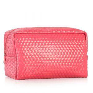 Большая косметичка из эко кожи Minus 417, розовая