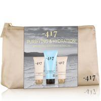 Базовый набор Трио: Увлажняющий крем для рук + Питательный крем для ног + Очищающий гель для всех типов кожи Minus 417, 400 мл