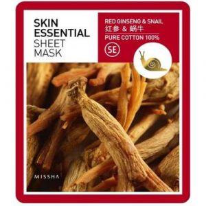 Маска для лица Skin Essential Sheet Mask (Ginseng & Snail) MISSHA 19 г