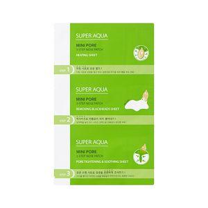 Очищающая маска для носа MISSHA Super Aqua Mini Pore 3Step Nose Patch 3 шт