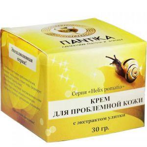 Крем для проблемной кожи Серия «Helix pomatia» с экстрактом улитки (улиточным муцином) Pantika 30 г