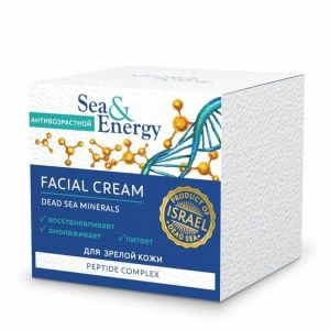 Антивозрастной крем для лица для зрелой кожи с пептидным комплексом Sea & Energy (Си Энерджи) 50 мл