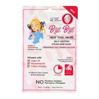 Самонагревающаяся паровая маска для волос с маслом макадамии Lindsay Bye Bye Heat To 30г