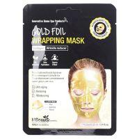 Антивозрастная золотая фольгированная маска для лица с коллагеном MBeauty Gold Foil Wrapping Mask 25 г