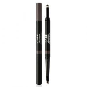 Двусторонний карандаш для бровей, тон №62 Черное дерево Ga-de Velveteen Brow Builder Duet