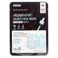 Увлажняющая голографическая серебряная маска с гиалуроновой кислотой MBeauty Holographic Silver Hyaluronic Acid Face Mask 23 г