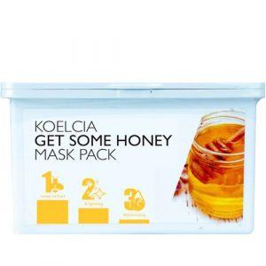 30 тканевых масок с экстрактом мёда в боксе Koelcia get some honey mask pack 30 шт