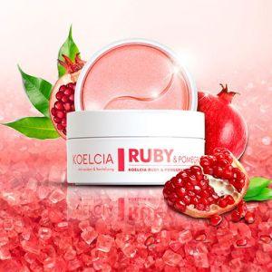 Витаминизирующие патчи с экстрактом граната и рубиновой пудрой Koelcia Pomegranate&Ruby Hydrogel Eye Patch 60шт