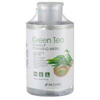 Очищающая вода с экстрактом зеленого чая 3W Clinic Green Tea Clean-Up Cleansing Water 500 мл