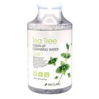 Очищающая вода с экстрактом чайного дерева 3W Clinic Tea Tree Clean-Up Cleansing Water 500 мл