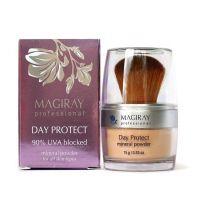 Защитная минеральная пудра задерживает до 90% UVA лучей Magiray Day Protect Mineral Powder SPF-20 15 г
