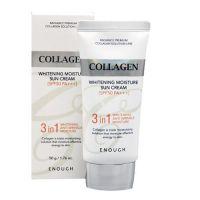 Солнцезащитный крем с морским коллагеном (SPF50) Enough Collagen 3in1 Whitening Moisture Sun Cream 50 мл