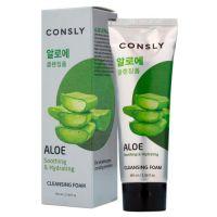 Успокаивающая кремовая пенка для умывания c алоэ вера Consly Aloe Vera Soothing Creamy Cleansing Foam 100 мл