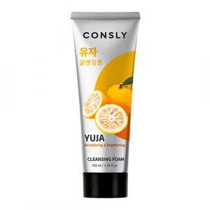 Витаминизирующая кремовая пенка для умывания с экстрактом юдзу Consly Yuja Revitalizing Creamy Cleansing Foam 100 мл